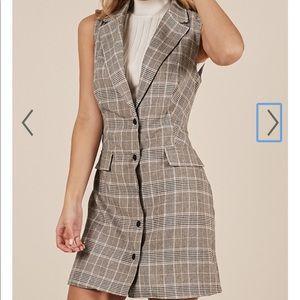 Showpo sleeveless blazer dress